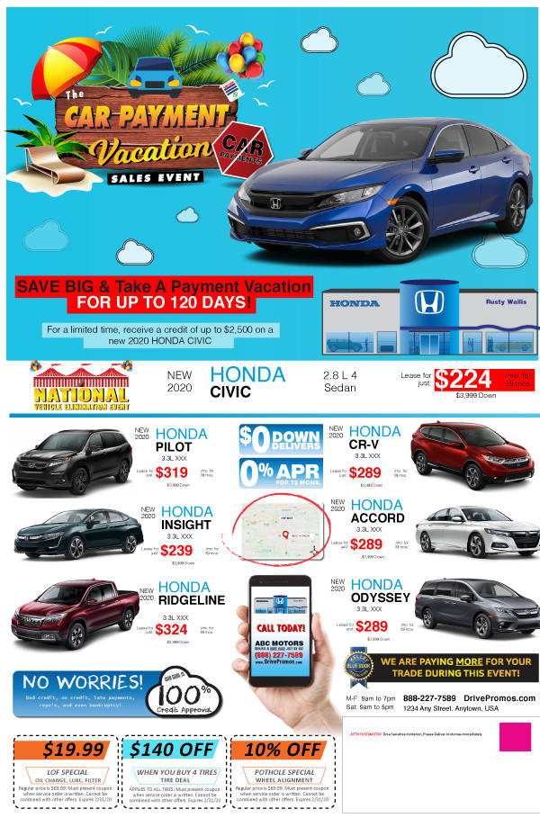 Car-Payment-Vacation-Sales-Event-Sample-Mailer-Coronavirus-Dealership