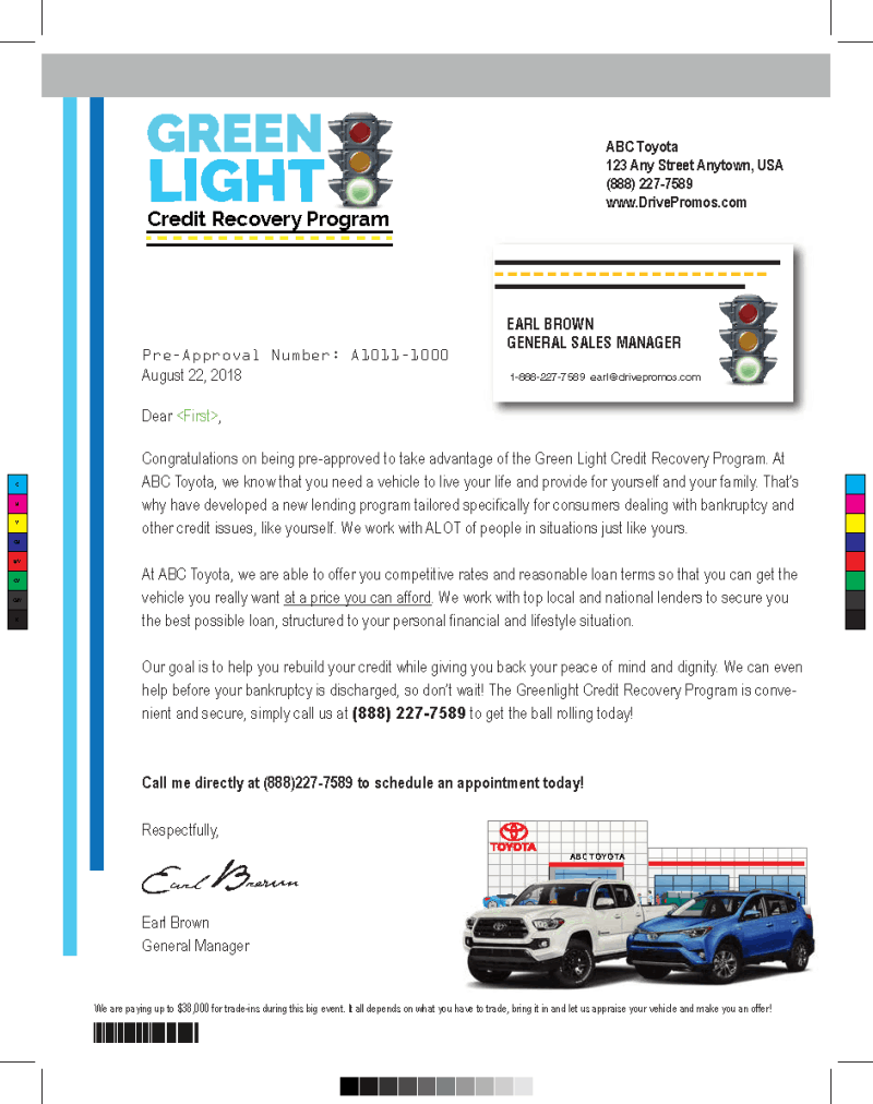 Green Light Credit PreApproval Mailer Automotive Advertising Ideas - State County Fair Themed Automotive Direct Mail