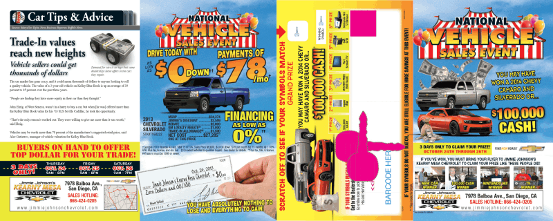 National Vehicle Elimination Event Tent Event Direct Mail Automotive Marketing